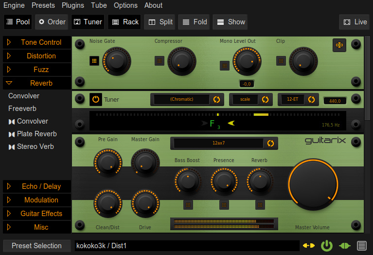 Guitarix - GNU/Linux Virtual Amplifier